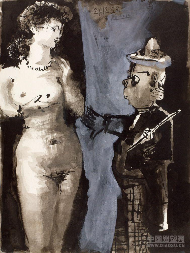 估价为700万至1000万的毕加索转折时期的作品 小丑与裸女