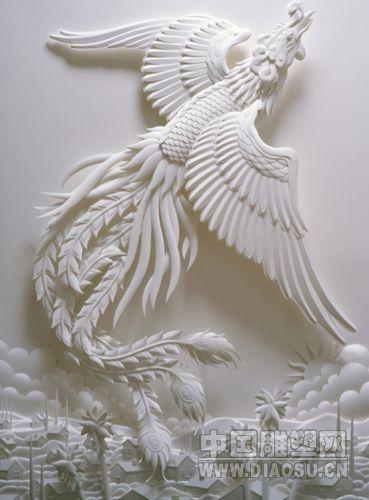 神奇的立体纸雕塑艺术作品