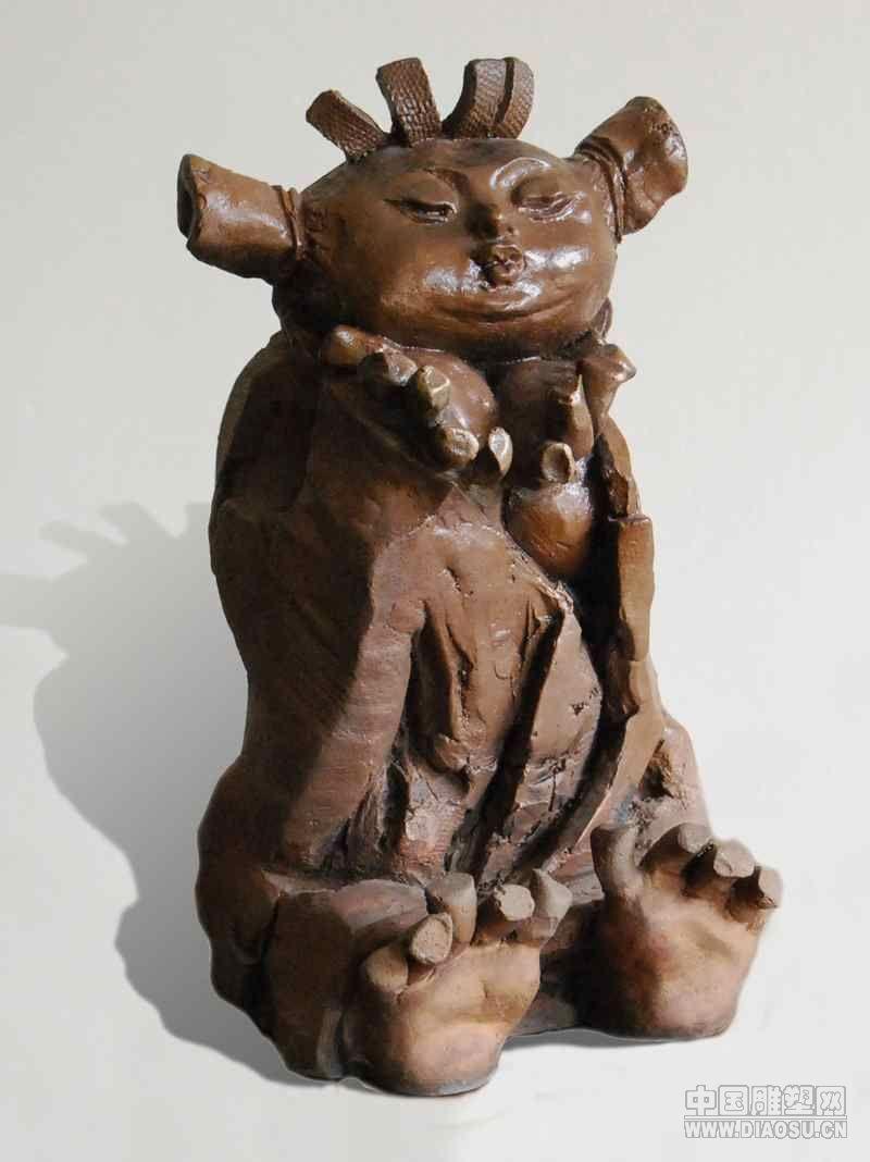 """""""中原风""""- 铸铜雕塑艺术作品 3"""