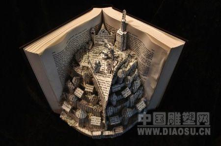 创意书本雕塑