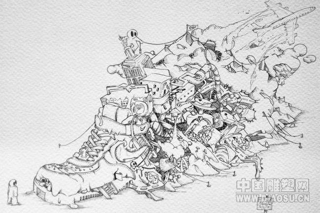 3d雕塑:耐克空军一号运动鞋