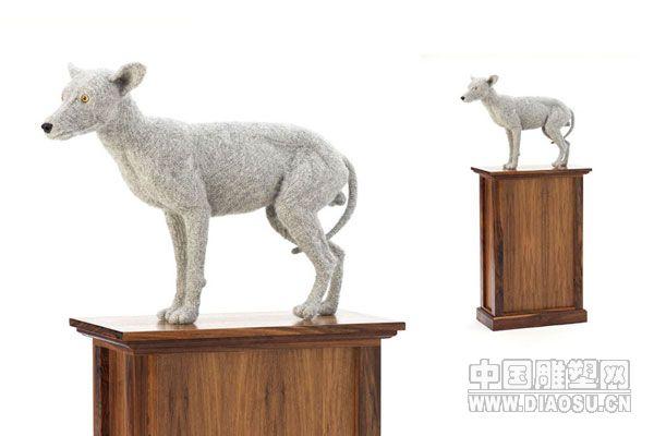 英国艺术家肖娜61理查森的针织动物雕塑(组图)