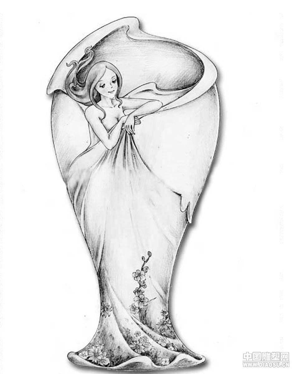 素描花瓶画画图片大全