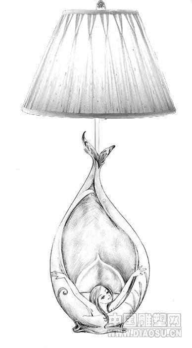 刘传凯手绘图片分享; 台灯设计图;