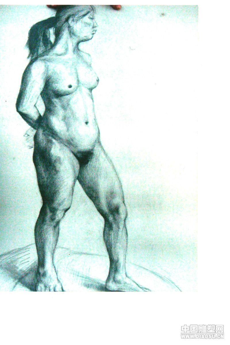 可爱胖子素描卡通图;