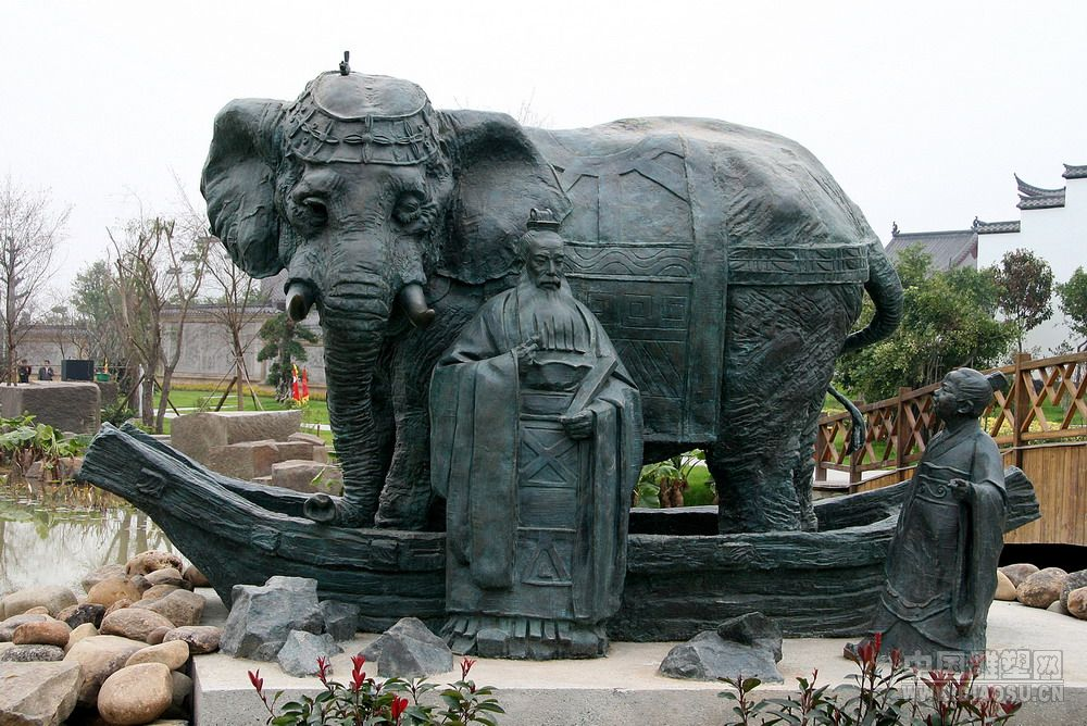 厦门世界花博园《曹冲称象》--俞畅的雕塑家园