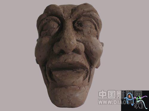 陶泥头像雕塑步骤图片