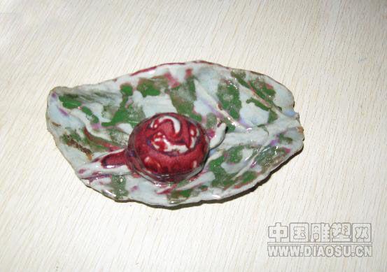 彩陶泥蜗牛作品步骤图片