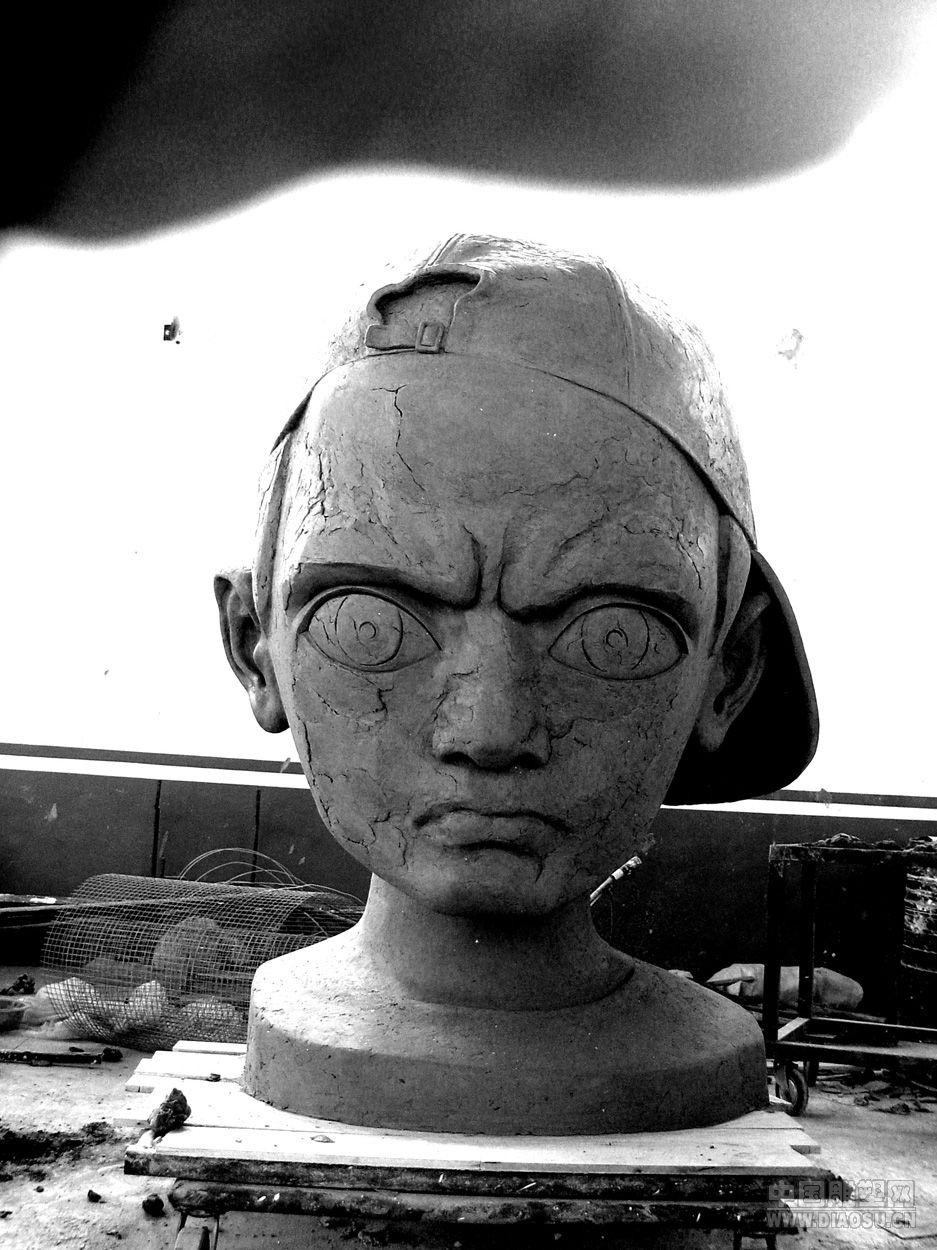 大头像 2004 北京__中国雕塑网