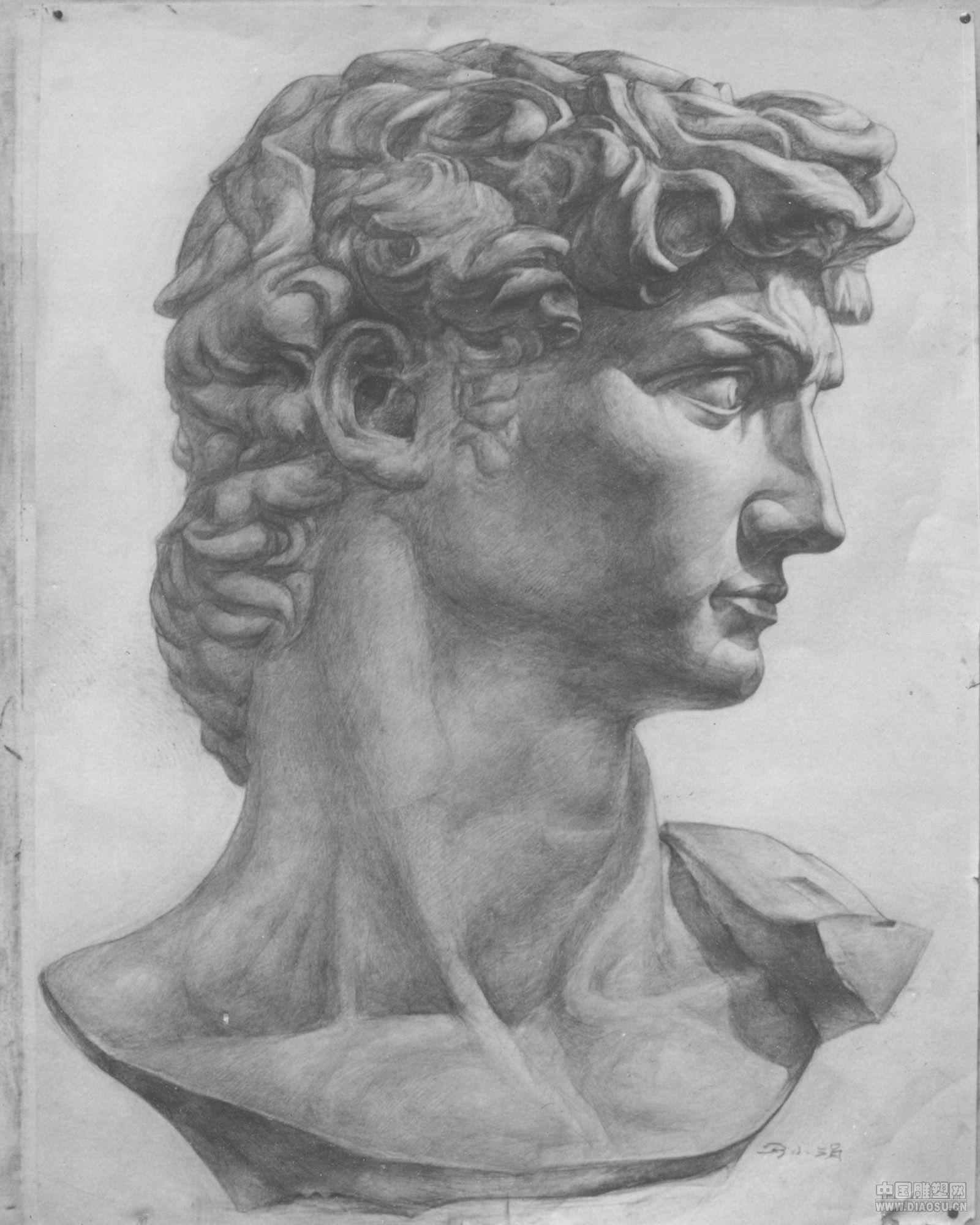 大卫雕像在哪里 女生看大卫雕像 大卫雕像素描