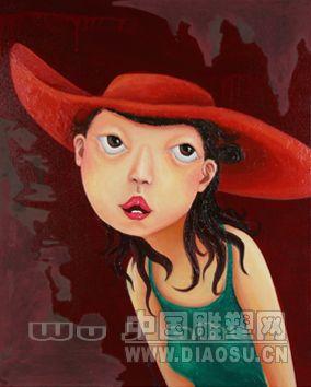 《戴红帽子的女孩一》