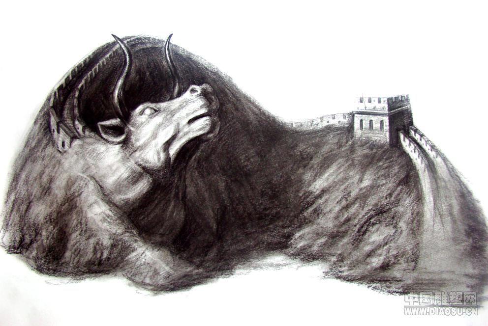 3d立体动物素描