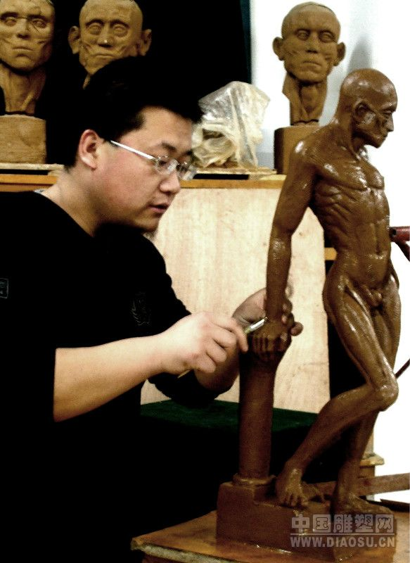 人体肌肉解剖__中国雕塑网图片