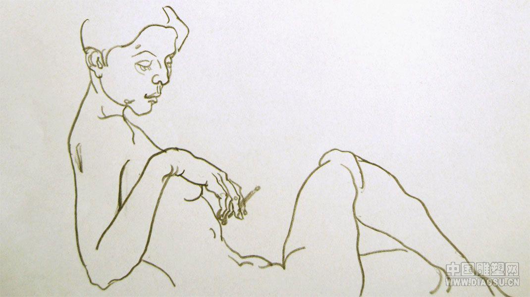 人物速写临摹图片 简单人物速写美女 速写人物