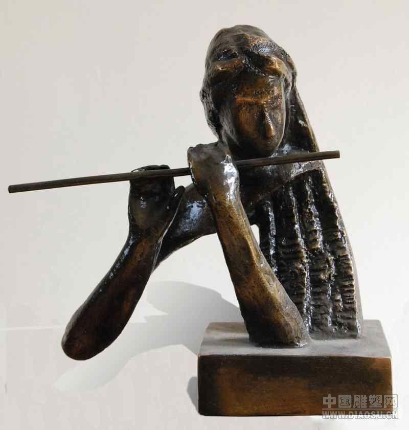 """""""中原风""""- 铸铜雕塑艺术作品 5"""