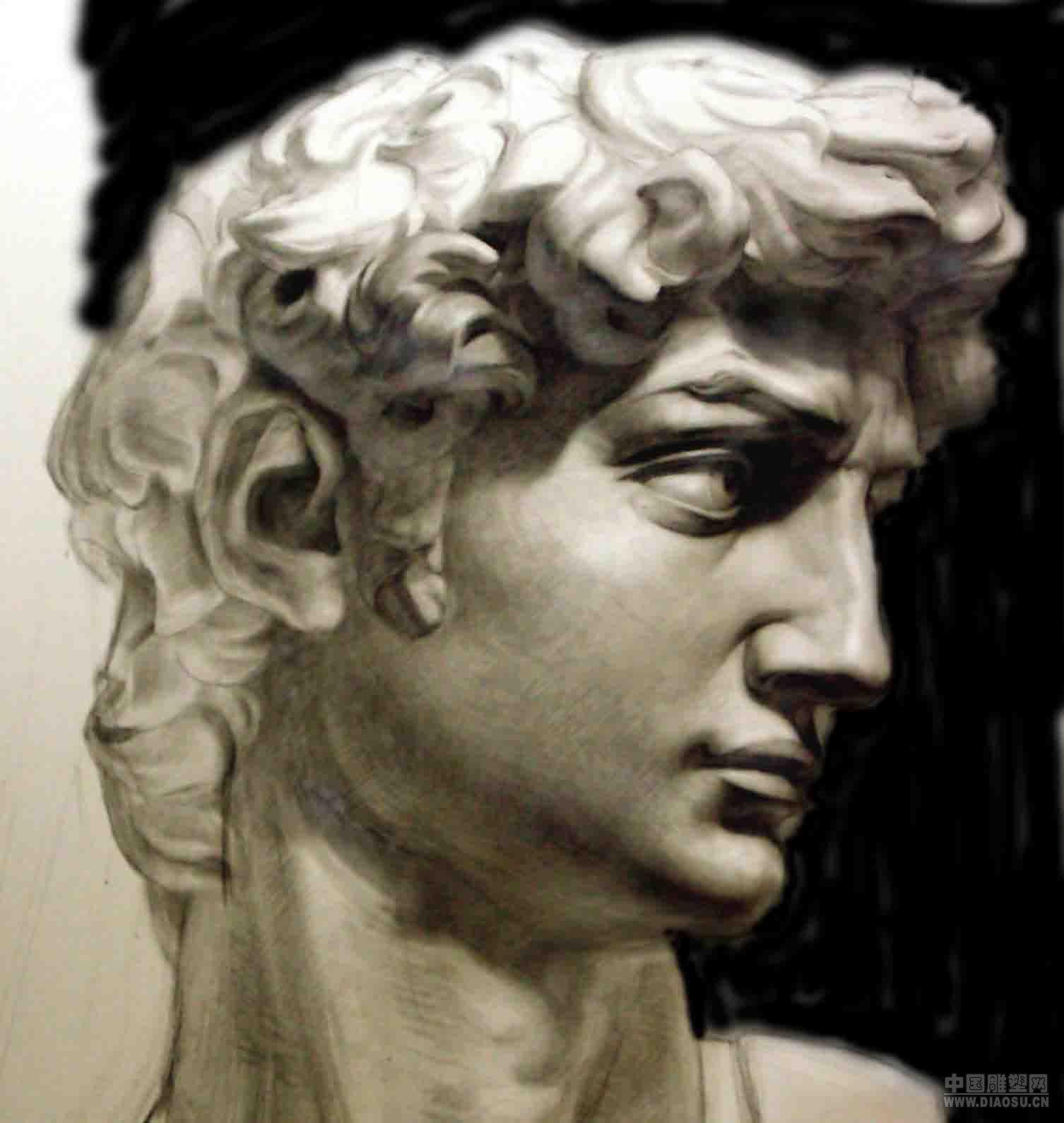 大卫雕塑多面